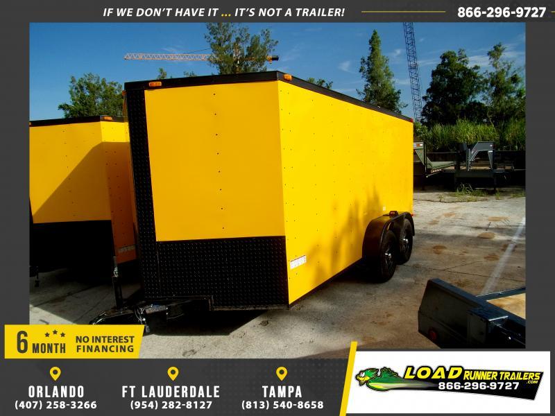 *116752* 7x14 Enclosed Cargo Trailer |LRT Tandem Axle Trailers 7 x 14