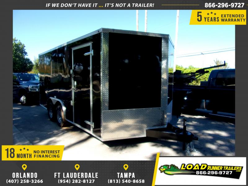 *112684* 8.5x16 Enclosed Cargo Trailer |LRT Tandem Axle Trailers 8.5 x 16
