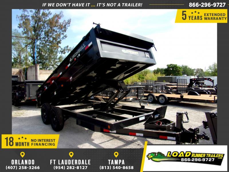 *114414* 7x16 Dump Trailer |LRT Tandem Axle Trailers 7 x 16