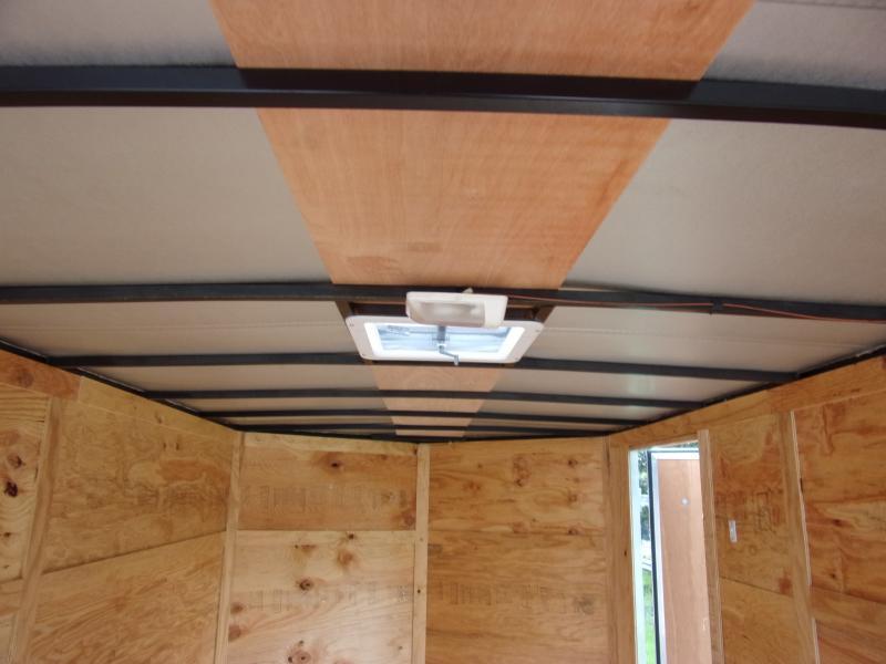 *112394* 7x14 Enclosed Cargo Trailer |LRT Tandem Axle Trailers 7 x 14