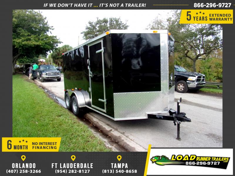 *112394* 7x14 Enclosed Cargo Trailer |LRT Tandem Axle Trailers 7 x 14
