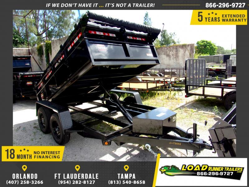 *116432* 6x10 Dump Trailer |LRT Tandem Axle Trailers 6 x 10