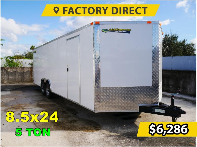 *FD824T5* 8.5x24 Enclosed Cargo Trailer |Tandem Axle Car Trailers 8.5 x 24