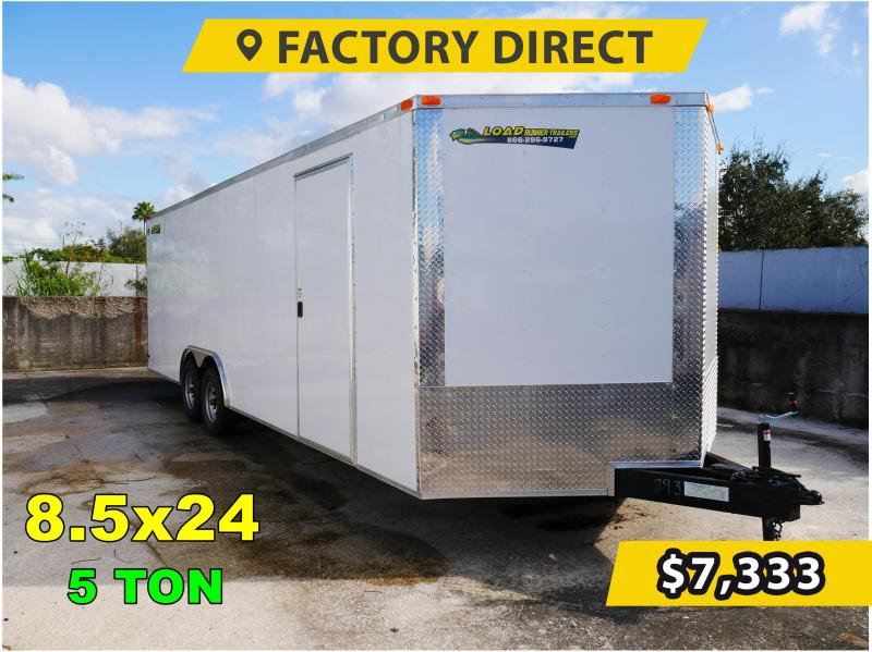 *FD824T5* 8.5x24 Enclosed Cargo Trailer |Tandem Axle Car Trailers 8.5 x 24
