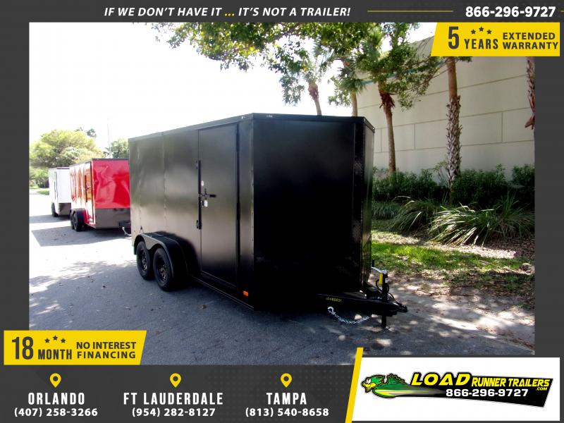 *114054* 7x14 Enclosed Cargo Trailer |LRT Tandem Axle Trailers 7 x 14