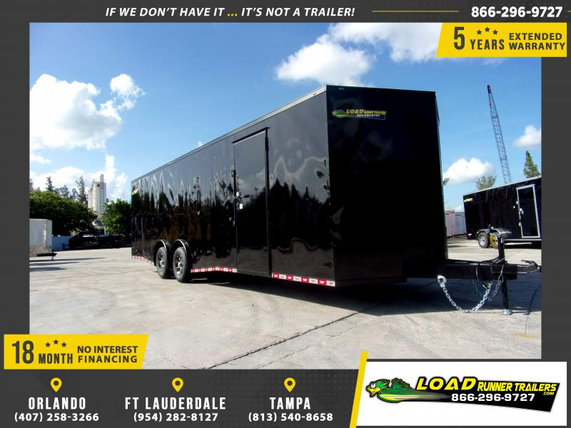 *112043* 8.5x28 Enclosed Cargo Trailer |LRT Tandem Axle Trailers 8.5 x 28