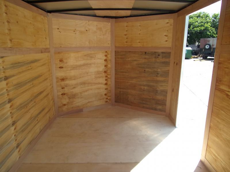 *115803* 7x16 Enclosed Cargo Trailer  LRT Tandem Axle Trailers 7 x 16