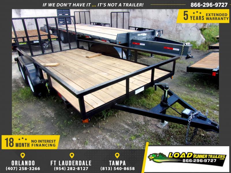 *117467* 7x14 Utility Trailer W/Brakes and Tube Rail 7 x 14