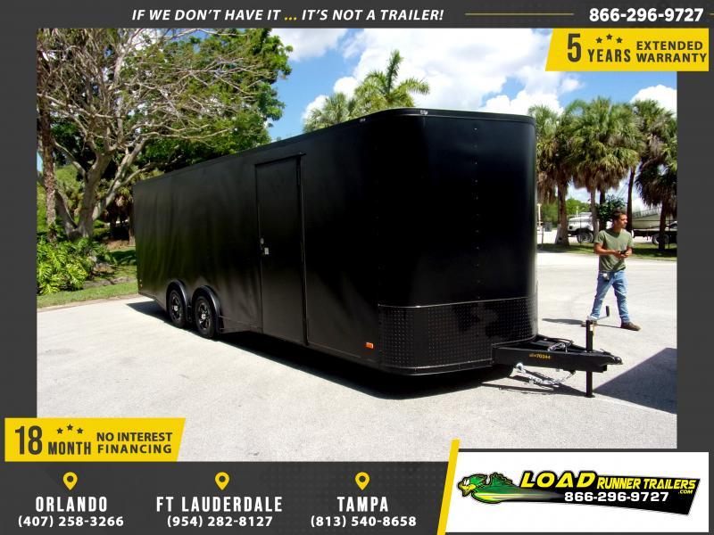*115185* 8.5x24 Enclosed Cargo Trailer |LRT Tandem Axle Trailers 8.5 x 24