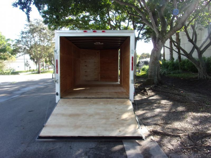 *112483* 7x16 Enclosed Cargo Trailer  LRT Tandem Axle Trailers 7 x 16