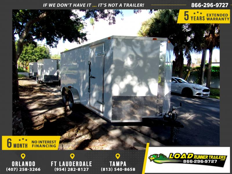 *112483* 7x16 Enclosed Cargo Trailer |LRT Tandem Axle Trailers 7 x 16