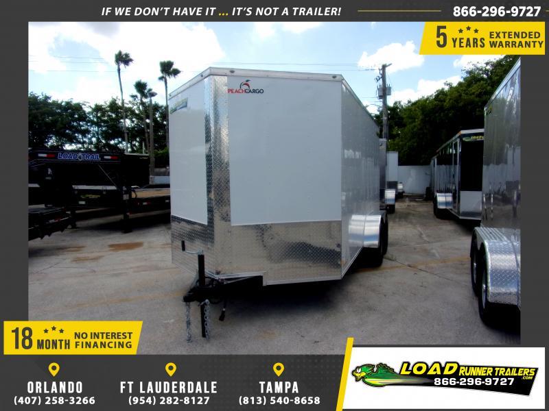 *115845* 7x14 Enclosed Cargo Trailer |LRT Tandem Axle Trailers 7 x 14