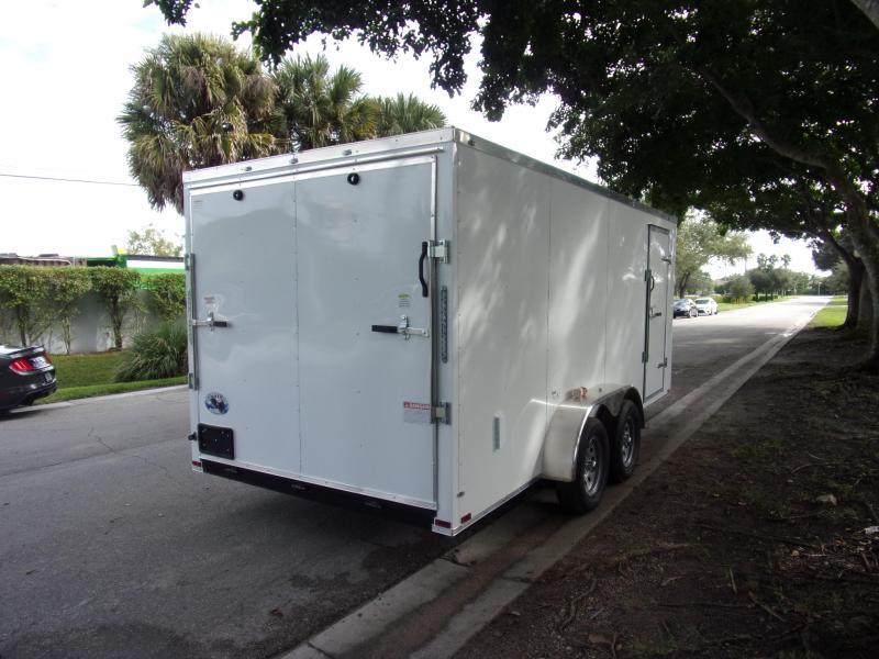 *111881* 7x16 Enclosed Cargo Trailer  LRT Tandem Axle Trailers 7 x 16