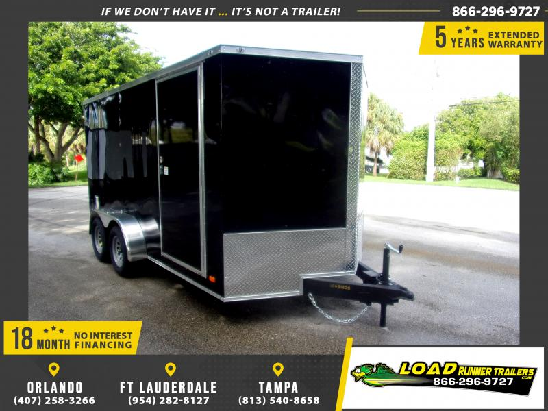 *114950* 7x14 Enclosed Cargo Trailer |LRT Tandem Axle Trailers 7 x 14