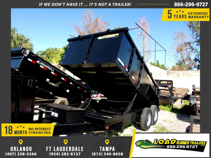 *117554* 7x14 Dump Trailer |LRT Tandem Axle Trailers 7 x 14