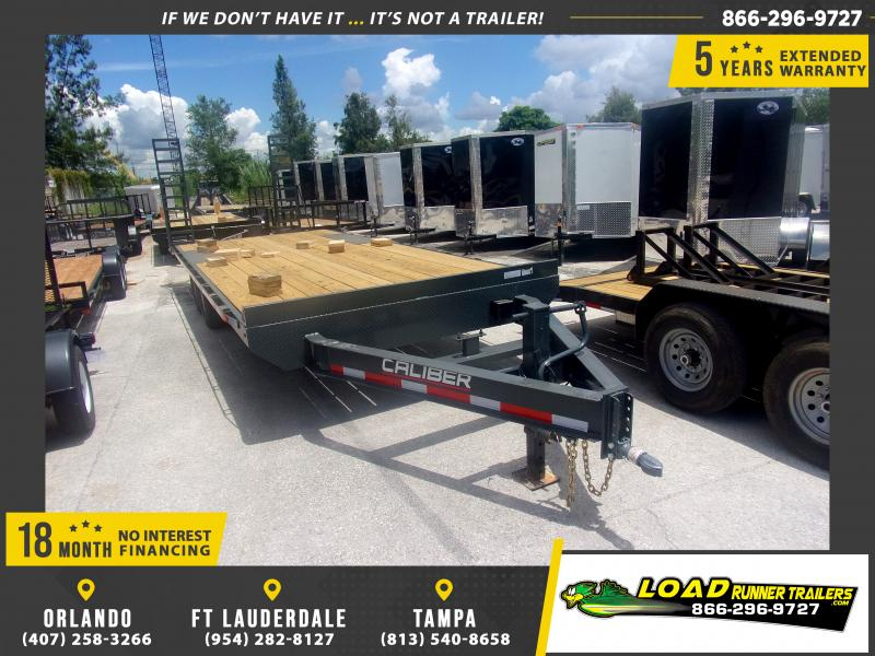 *116982* 8.5x24 Flatbed Deck Over Trailer |LRT Tandem Axle Trailers 8.5 x 24