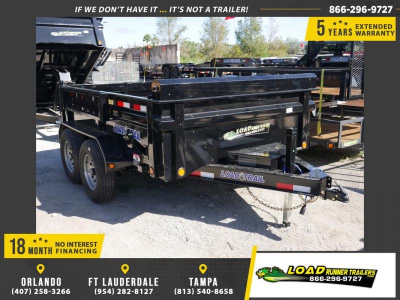 *108084* 7x10 Load Trail Dump Trailer  LRT Tandem Axle Trailers 7 x 10