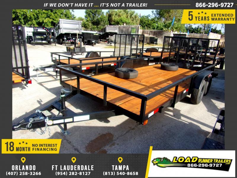 *113532* 7x16 Utility|Lawn|ATV|Multipurpose Trailer |LRT Tandem Axle Trailers 7 x 16