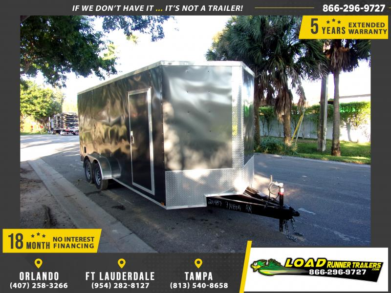 *112881* 7x18 Enclosed Cargo Trailer |LRT Tandem Axle Trailers 7 x 18