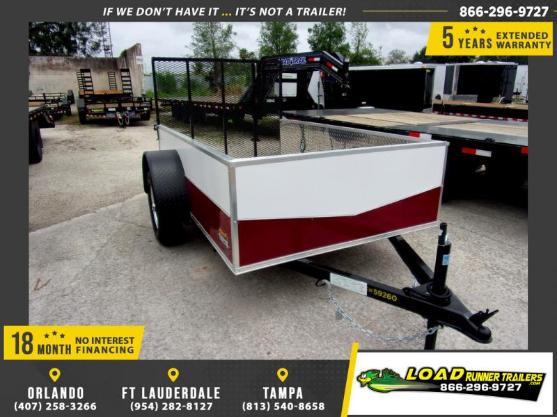 *109259* 5x8 Sport Utility Trailer W/Powder Coated Sides 5 x 8