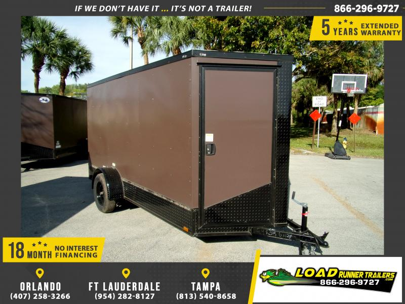 *114625* 6x12 Enclosed Cargo Trailer |LRT Haulers & Trailers 6 x 12