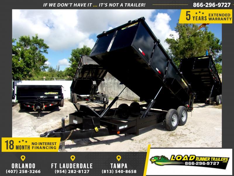 *111115* 7x16 Dump Trailer |LRT Tandem Axle Trailers 7 x 16