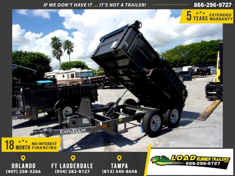 *117010* 5x10 Dump Trailer |LRT Tandem Axle Trailers 5 x 10