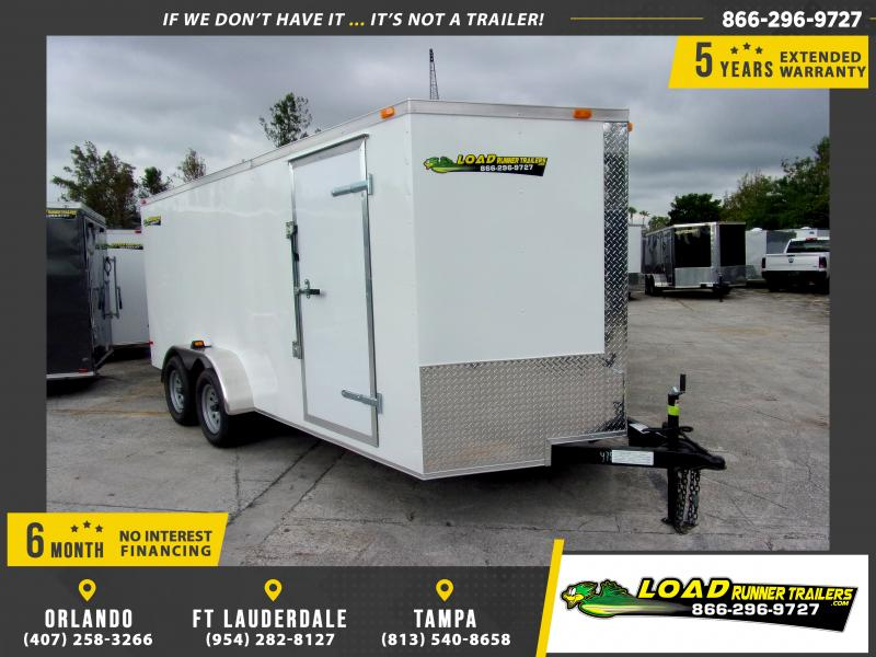 *112066* 7x16 Enclosed Cargo Trailer |LRT Tandem Axle Trailers 7 x 16