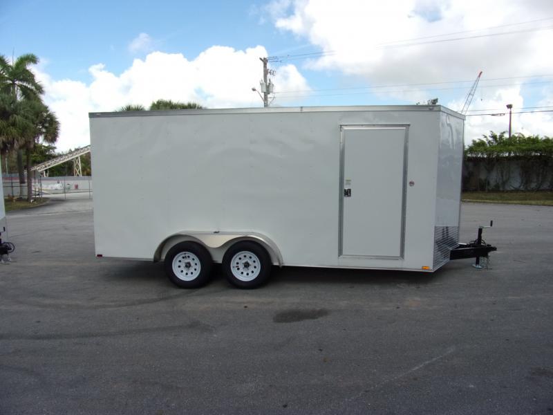 *113699* 7x16 Enclosed Cargo Trailer |LRT Tandem Axle Trailers 7 x 16