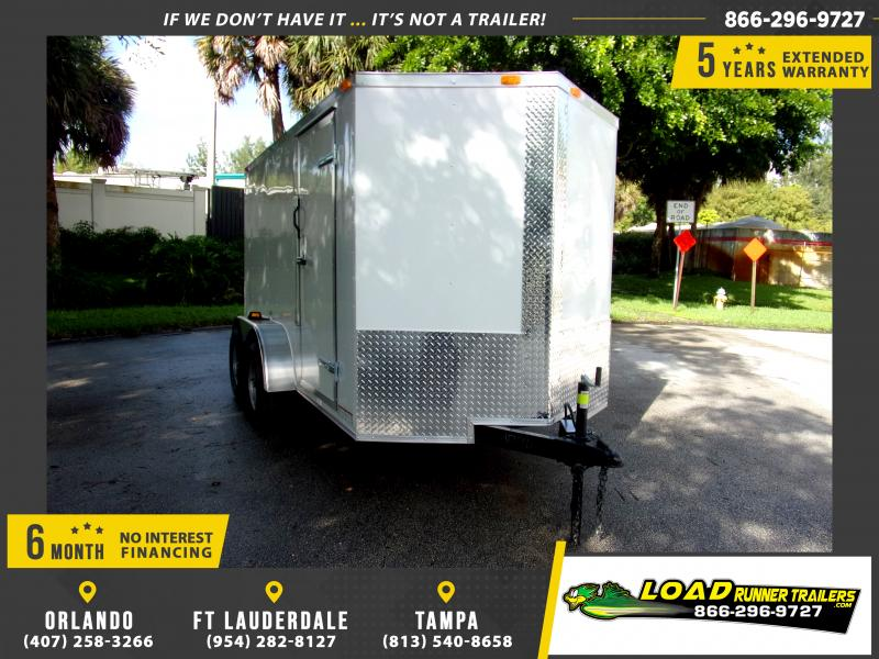 *111775* 6x12 Enclosed Cargo Trailer |LRT Tandem Axle Trailers 6 x 12