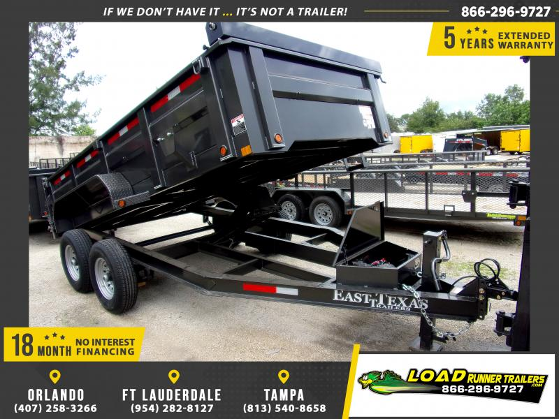 *116858* 7x14 Dump Trailer |LRT Tandem Axle Trailers 7 x 14