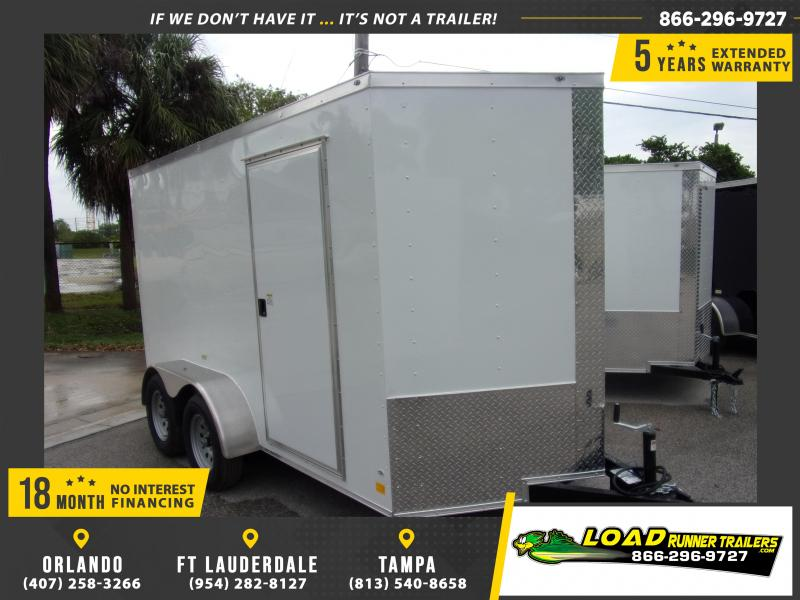 *114917* 6x12 Enclosed Cargo Trailer |LRT Tandem Axle Trailers 6 x 12