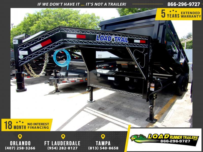 *DG31* 7x16 Gooseneck Dump Trailer |LRT Tandem Axle Trailers 7 x 16 | DG83-16T7-24S