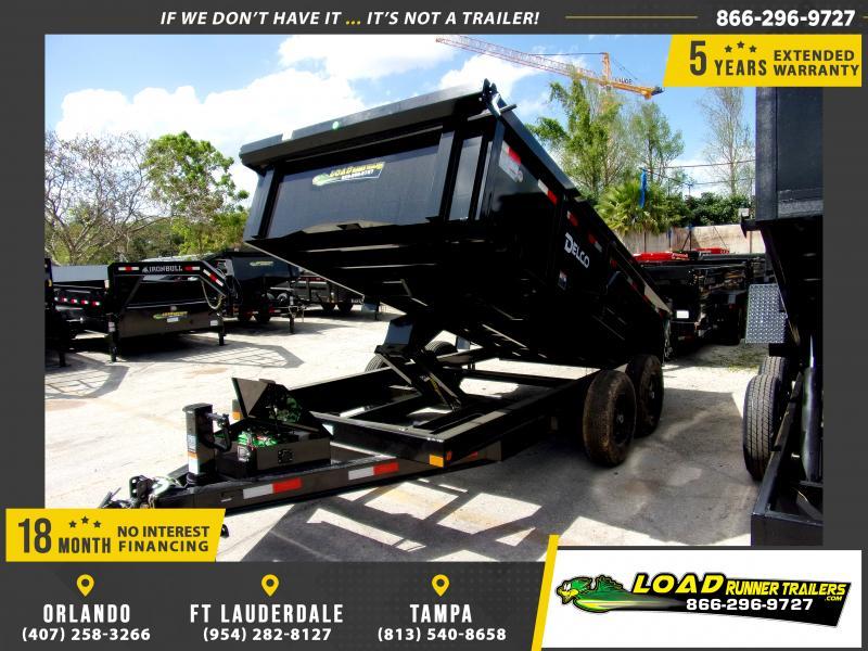 *114423* 7x14 Dump Trailer |LRT Tandem Axle Trailers 7 x 14