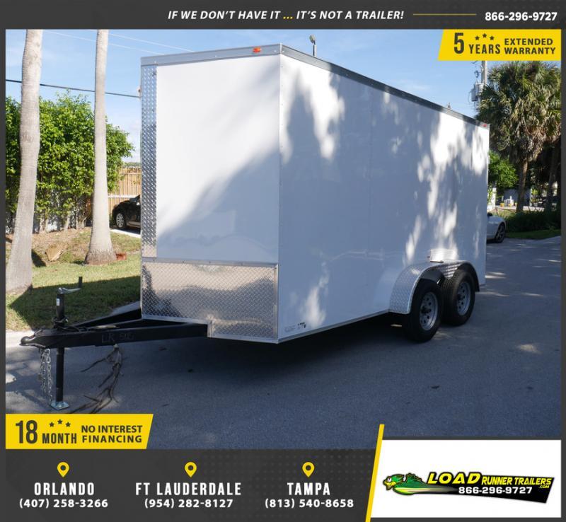 *E8E* 7x14 Enclosed Cargo Trailer |LRT Tandem Axle Trailers 7 x 14 | EV7-14T3-R