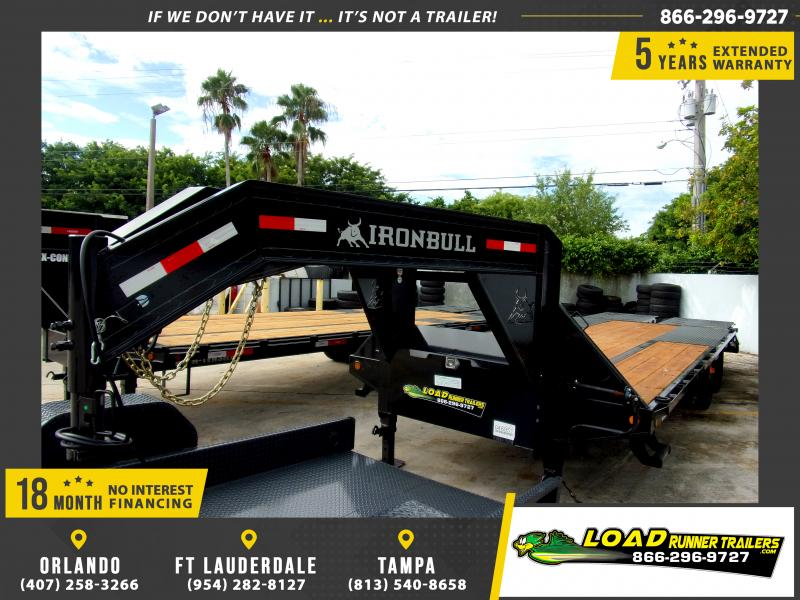 *110584* 8.5x25 Gooseneck Flatbed Deck Over Trailer |LRT Haulers & Trailers 8.5 x 25