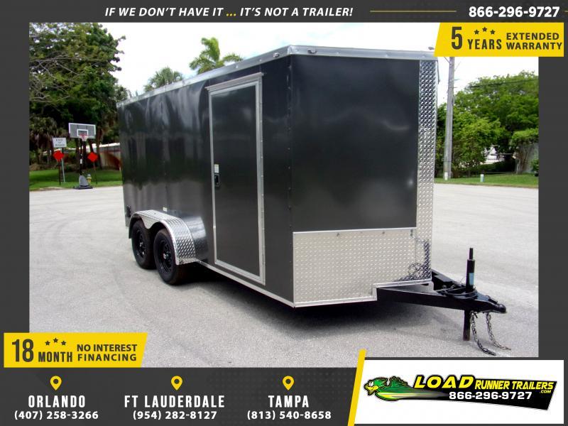 *115252* 7x14 Enclosed Cargo Trailer |LRT Tandem Axle Trailers 7 x 14