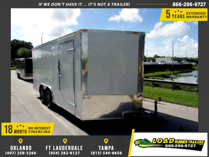 *110518* 8.5x16 Enclosed Cargo Trailer |LRT Tandem Axle Trailers 8.5 x 16