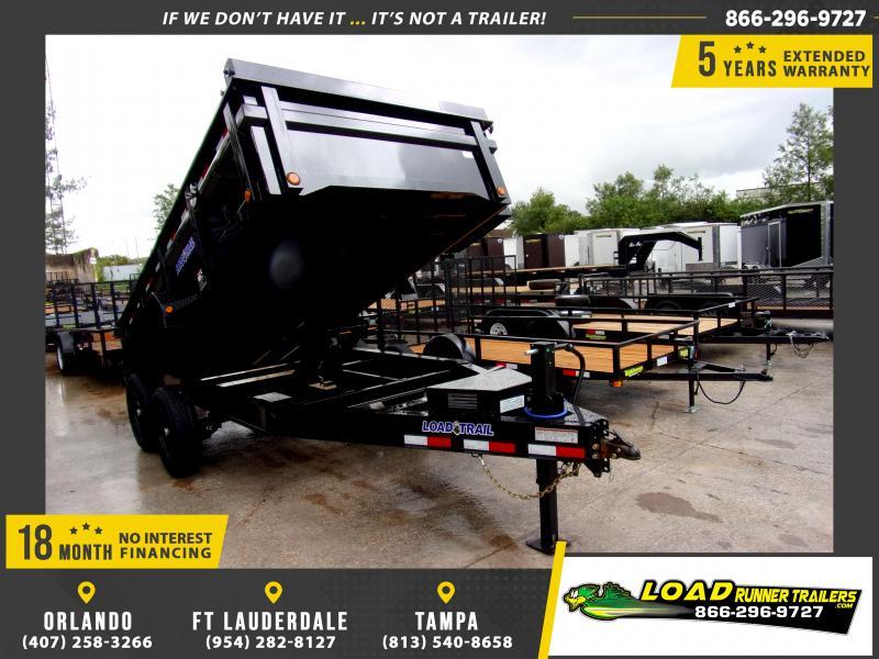 *115916* 7x14 Dump Trailer  LRT Tandem Axle Trailers 7 x 14