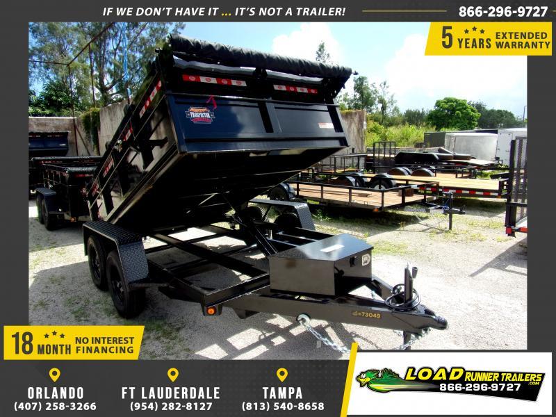 "*117610* 6x10 7K Dump Trailer w/27"" Sides 6 x 10"
