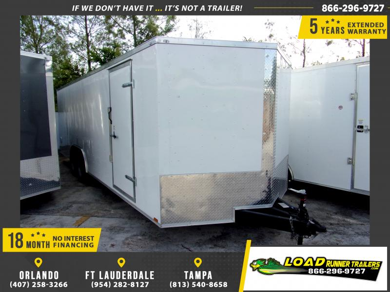 *114873* 8.5x24 Enclosed Cargo Trailer |LRT Tandem Axle Trailers 8.5 x 24
