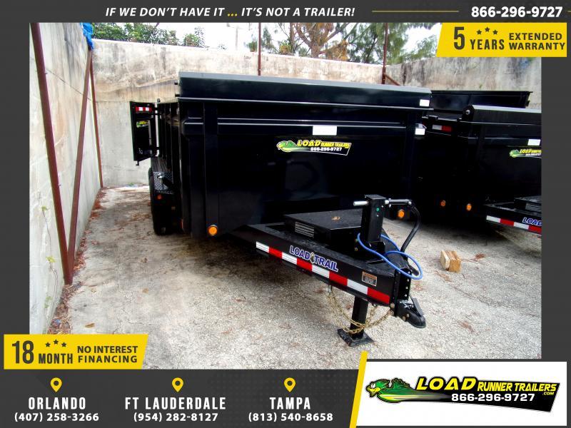 *112941* 7x14 Dump Trailer |LRT Tandem Axle Trailers 7 x 14