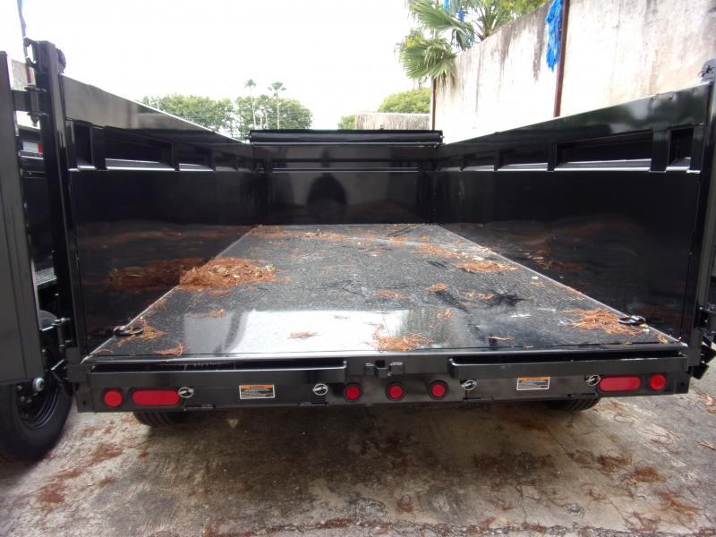 *112941* 7x14 Dump Trailer  LRT Tandem Axle Trailers 7 x 14