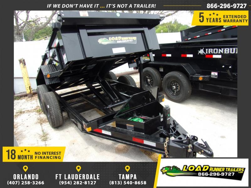 *116268* 5x10 Dump Trailer |LRT Tandem Axle Trailers 5 x 10