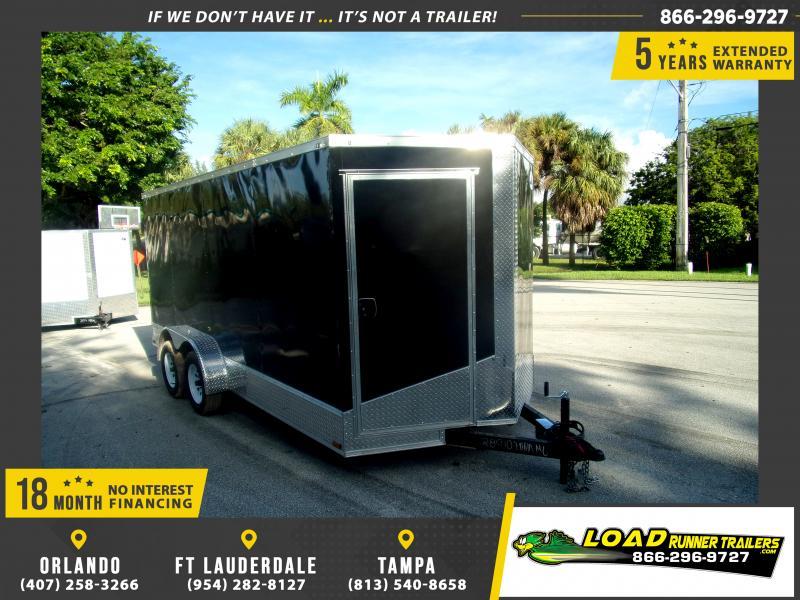 *117581* 7x16 Enclosed Cargo Trailer |LRT Tandem Axle Trailers 7 x 16