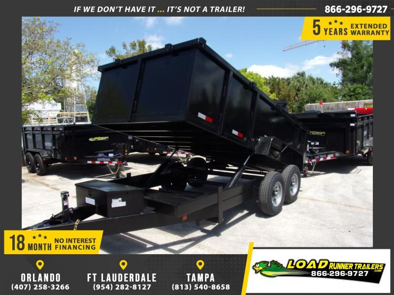 *114989* 7x14 Dump Trailer |LRT Tandem Axle Trailers 7 x 14