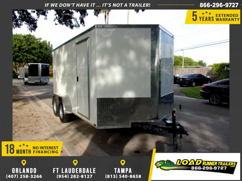 *114740* 7x14 Enclosed Cargo Trailer |LRT Tandem Axle Trailers 7 x 14