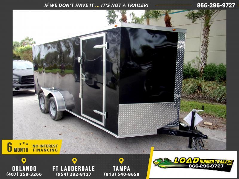 *113800* 7x16 Enclosed Cargo Trailer |LRT Tandem Axle Trailers 7 x 16