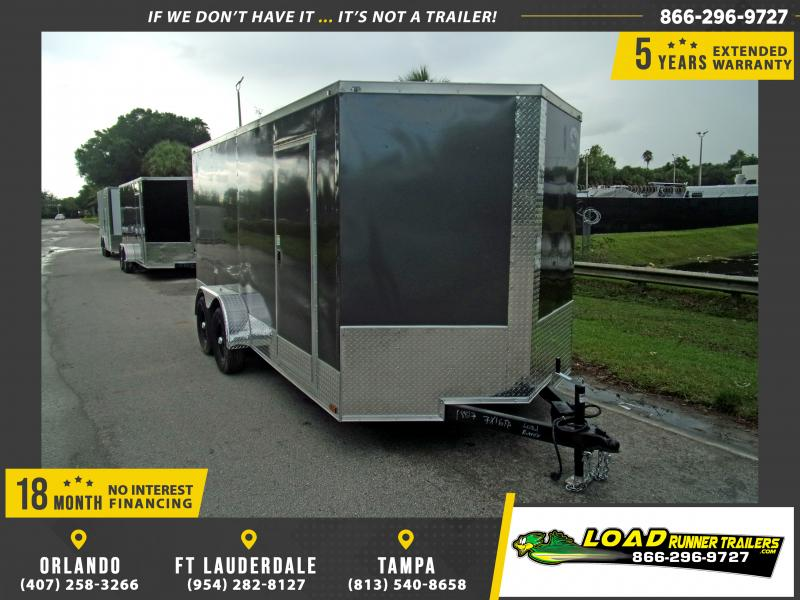 *115134* 7x16 Enclosed Cargo Trailer |LRT Tandem Axle Trailers 7 x 16