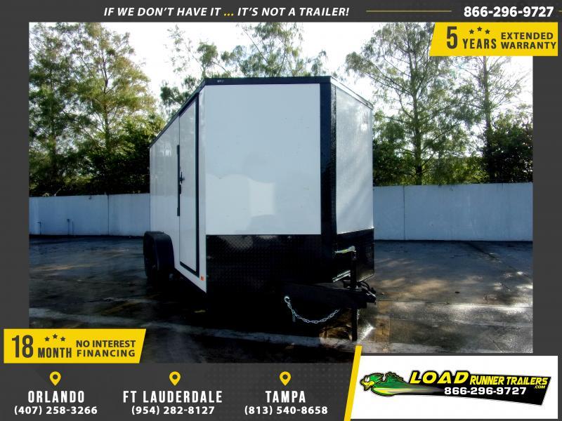 *114292* 7x14 Enclosed Cargo Trailer |LRT Tandem Axle Trailers 7 x 14
